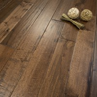old west hand scraped hickory prefinished solid hardwood flooring by hurst hardwoods