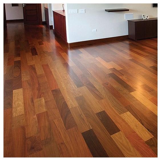 "Solid Brazilian Walnut Hardwood Flooring: 5"" X 3/4"" Brazilian Walnut Tropical Grade Prefinished"