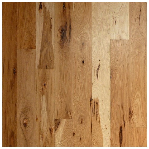 Hickory Character Unfinished Solid Wood Flooring