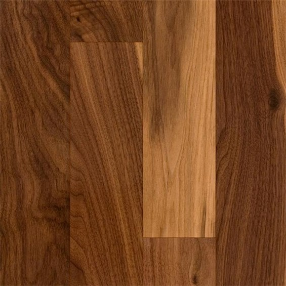 Discount 3 1 4quot x 3 4quot walnut character natural for Prefinished solid hardwood flooring