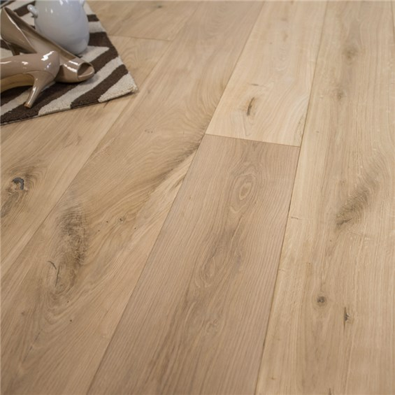 7 1 2 x 5 8 european french oak unfinished micro bevel Unfinished hardwood floors