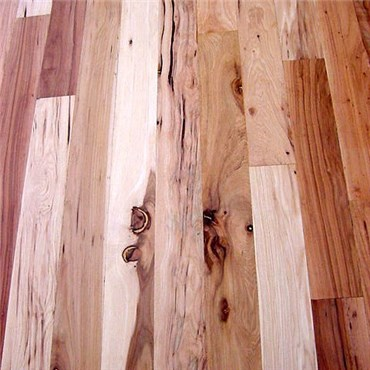 Hickory 3 Common Unfinished Solid Wood Flooring