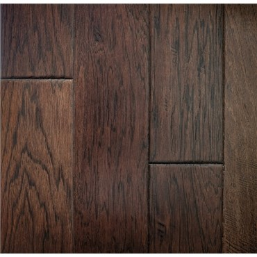 "5"" x 3/8"" Hickory Prefinished Engineered Copper Wood Flooring"