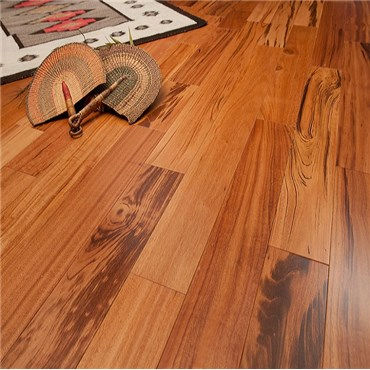 Tigerwood Premium Grade Unfinished Engineered Wood Flooring