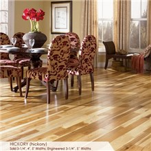 "Somerset Character Collection Plank 3 1/4"" Solid Hickory Saddle Wood Flooring"