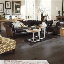 "Somerset Character Collection Plank 3 1/4"" Solid Maple Onyx Wood Flooring"