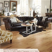 "Somerset Character Collection Plank 3 1/4"" Solid Maple Pine Wood Flooring"