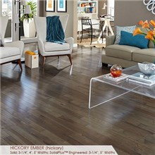 "Somerset Character Collection Plank 4"" Solid Hickory Ember Wood Flooring"