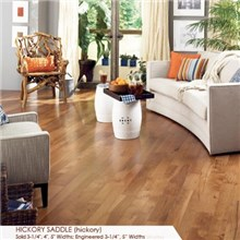 "Somerset Character Collection Plank 4"" Solid Hickory Saddle Wood Flooring"