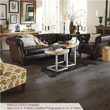 "Somerset Character Collection Plank 4"" Solid Maple Onyx Wood Flooring"