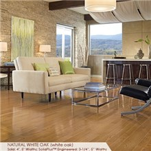 "Somerset Color Collection Plank 3 1/4"" Engineered White Oak Natural Wood Flooring"