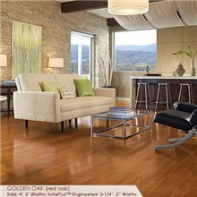 "Somerset Color Collection Plank 3 1/4"" Engineered Oak Golden Wood Flooring"