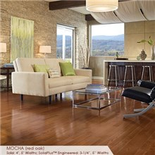 "Somerset Color Collection Plank 3 1/4"" Engineered Oak Mocha Wood Flooring"