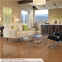 "Somerset Color Collection Plank 3 1/4"" Engineered Red Oak Natural Wood Flooring"