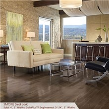 "Somerset Color Collection Plank 3 1/4"" Engineered Oak Smoke Wood Flooring"