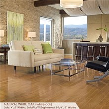 "Somerset Color Collection Plank 5"" Engineered White Oak Natural Wood Flooring"