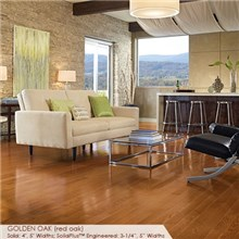 "Somerset Color Collection Plank 5"" Engineered Oak Golden Wood Flooring"