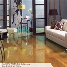 "Somerset High Gloss Collection Strip 2 1/4"" Solid Natural White Oak High Gloss Wood Flooring"