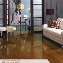 "Somerset High Gloss Collection Strip 2 1/4"" Solid Chestnut High Gloss Wood Flooring"