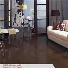 "Somerset High Gloss Collection Strip 2 1/4"" Solid Shadow High Gloss Wood Flooring"