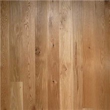 "7"" x 3/4"" White Oak Character Natural Prefinished Solid 1'-9' Wood Flooring"