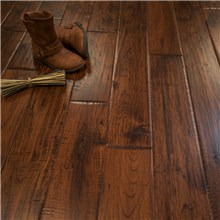 Canyon Crest Hand Scraped Hickory Character Prefinished Solid Wood Floors