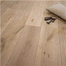 "7 1/2"" x 1/2"" European French Oak Riviera Beveled Edge Unfinished Engineered Wood Flooring"
