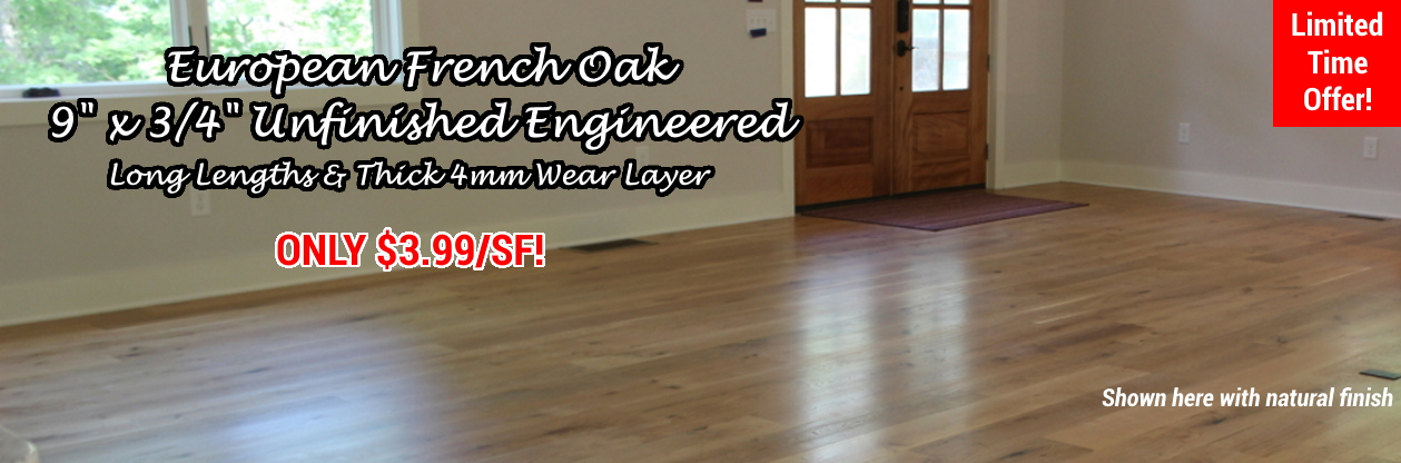European French Oak Unfinished Engineered Wood Flooring at Cheap Prices by Hurst Hardwoods