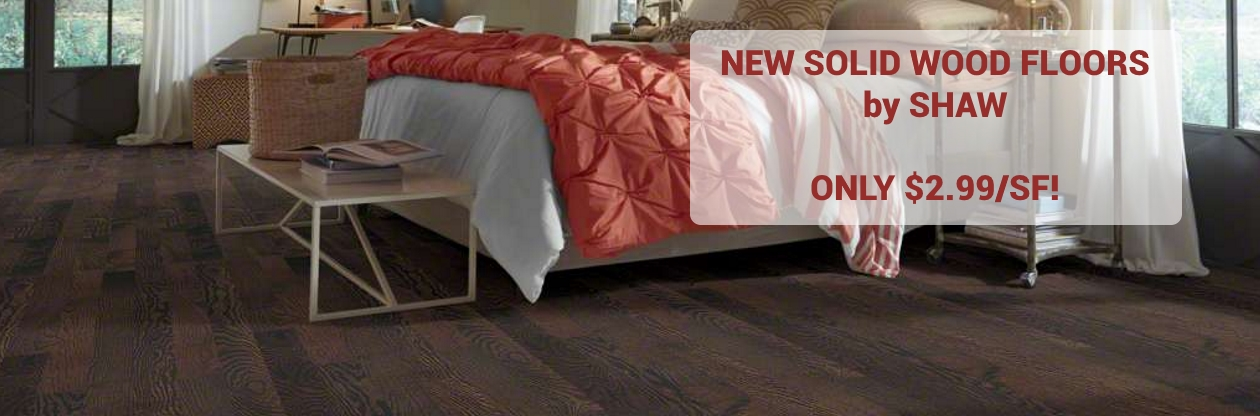 Golden Opportunity Solid Wood Floors by Shaw --- Only $2.99/SF!