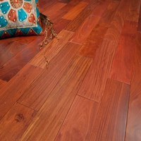 "4"" Santos Mahogany Unfinished Solid Wood Flooring at Discount Prices"