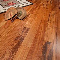 "4"" Tigerwood Prefinished Solid Wood Flooring at Discount Prices"