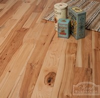 "5"" x 3/4"" Hickory Character Prefinished Solid Natural Wood Flooring Specials at Cheap Prices"