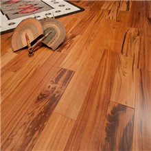 "3"" Tigerwood Prefinished Solid Wood Flooring at Discount Prices"