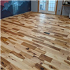Hickory #3 Common Unfinished Solid Hardwood Flooring installed by Hurst Hardwoods