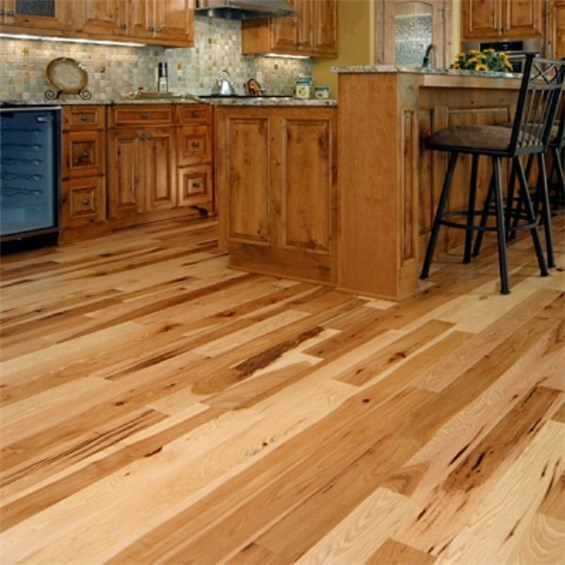 Hickory Character Natural Prefinished Solid Wood Flooring at Cheap Prices
