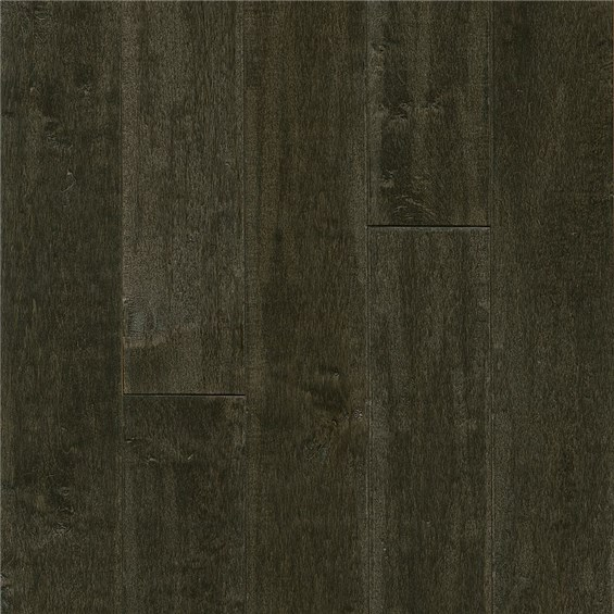 "Armstrong American Scrape 5"" Solid Maple Dark Lave Wood Flooring"
