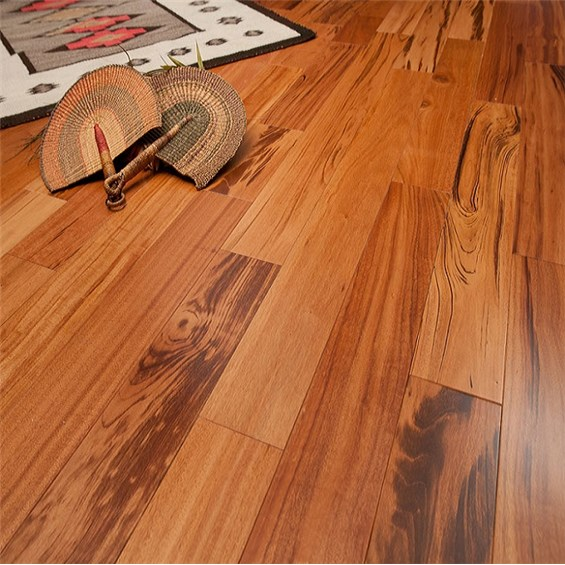 Tigerwood Clear Grade Unfinished Solid Wood Flooring