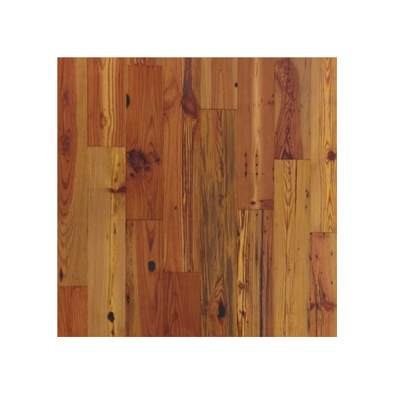 Antique Reclaimed Heart Pine Character Grade Unfinished Solid Hardwood Flooring by Hurst Hardwoods