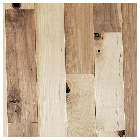 Hickory #3 Common Unfinished Solid Hardwood Flooring at cheap prices by Hurst Hardwoods