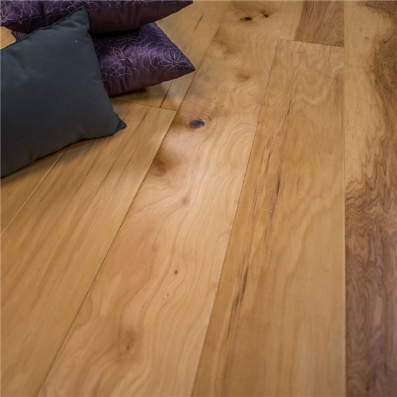 "7 1/2"" x 1/2"" Hand Scraped Hickory Natural Prefinished Engineered Wood Floors at Discount Prices"
