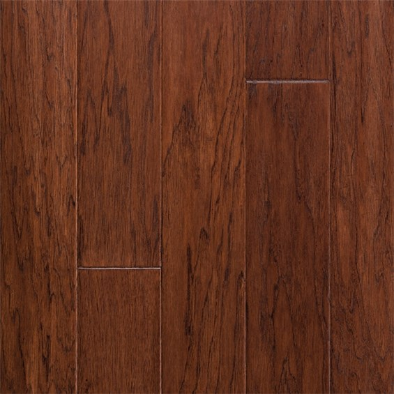 "5"" x 3/8"" Hickory Walden Prefinished Engineered Budget Wood Flooring by Hurst Hardwoods"
