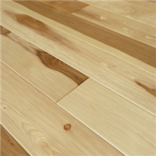 "5"" x 3/8"" Hickory Hand Scraped Natural Prefinished Engineered Budget Wood Flooring by Hurst Hardwoods"