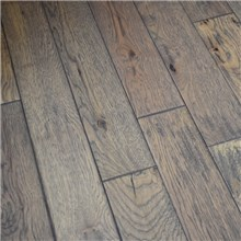 Hand Scraped Hickory Greystone Prefinished Solid Hardwood Flooring by Hurst Hardwoods